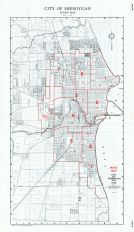 Sheboygan City - Ward Map, Sheboygan County 1941